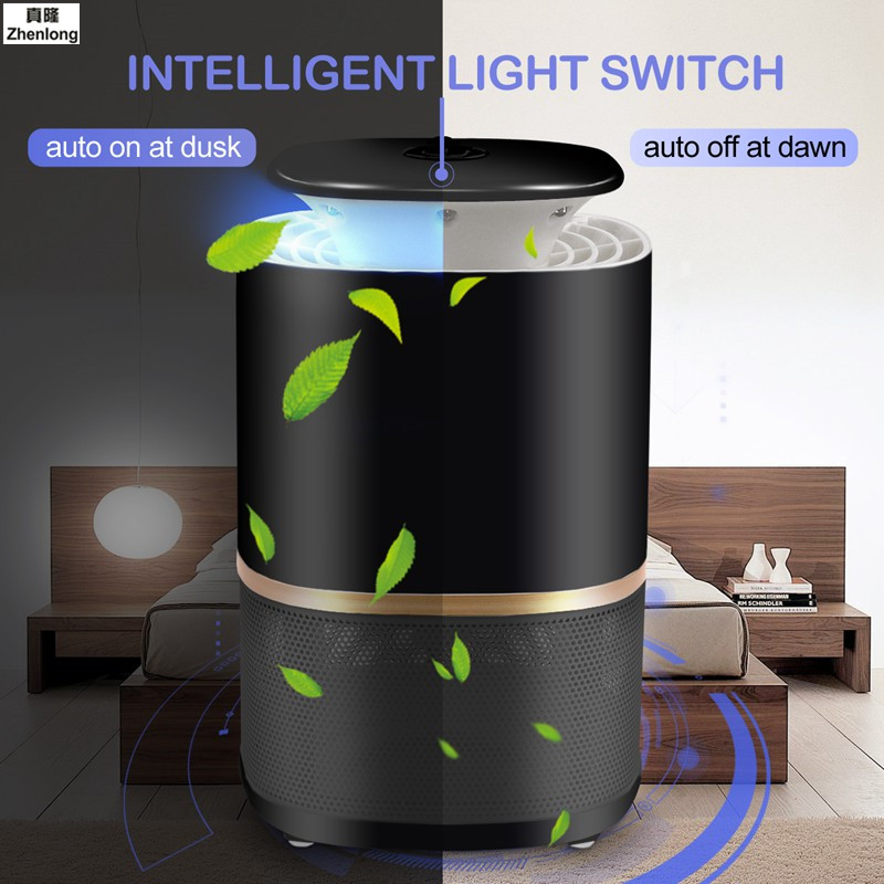 3W 220V Photocatalyst Mosquito Killer Lamp Mosquito Repellent Bug Insect Light Electronic Pest Control UV Light Killing Lamp