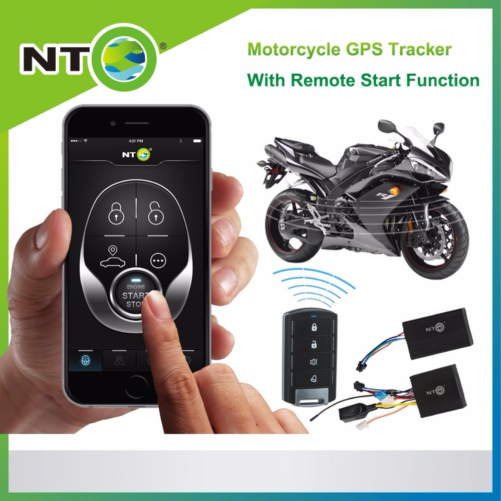 NTG02M freeshipping 1pcs gps motorcycle free app for android and iphone with remote fuel cut remote engine start google link