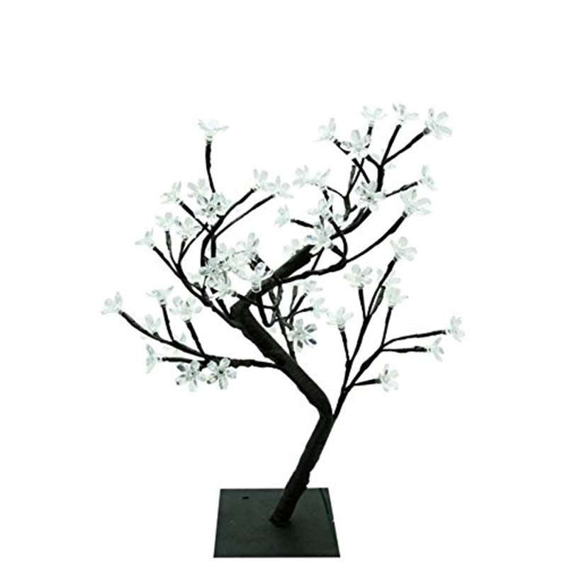 Switch control Tree Bright LED Cherry Lamp 48 Flowers Cherry Tree Lights 45cm LED Tree Light For Home Decor Office Bedside