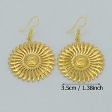 3.5CM,Islam Earrings for Women/Girl,Gold Color Allah Earrings,Arab Muslim Jewelry/Middle Eastern Gifts #046606
