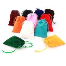 Sacchetti di dadi di velluto di alta qualità 10pcs 9*12cm per carte da gioco da tavolo imballaggio o sacchetti con coulisse per sacchetti da collezione