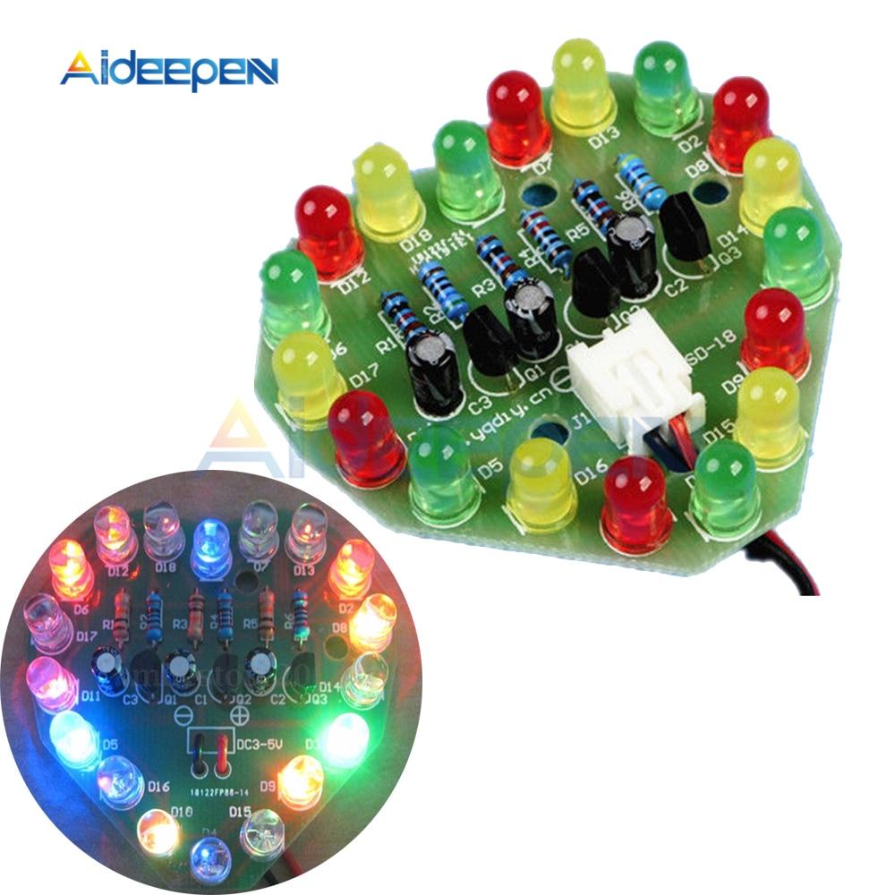 US $0 83 41% OFF|Heart Shape LED Cycle Lamp Suite LED Flashlight DIY Kits  Electronic Production Kit DC 3V 5V Holiday Gift Decoration-in Party DIY