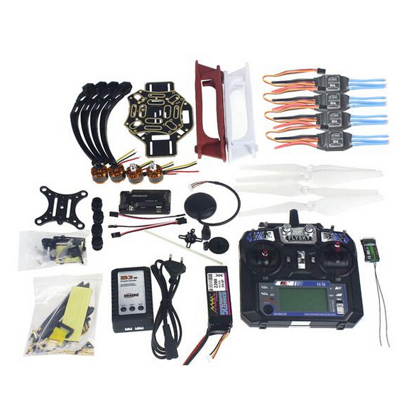 Kit complet RC Drone Quadrocopter 4-essieu Avions Kit F450-V2 Cadre GPS APM2.8 Vol Contrôle Caméra Cardan PTZ F02192-X