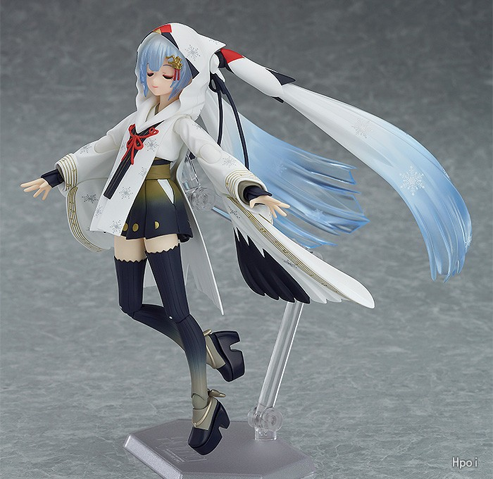 FIGMA EX-045 Snow Hatsune Miku Crane Priestess Ver Anime 15CM Action Figure Toys 1