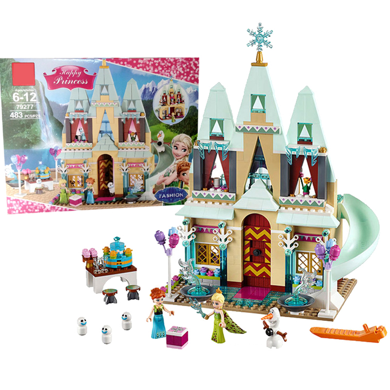 Image 4 - 3 style Dream Princess Frozen Castle Elsa Ice Castle Princess Anna Stacking Building Blocks Bricks Toy Compatible With-in Blocks from Toys & Hobbies