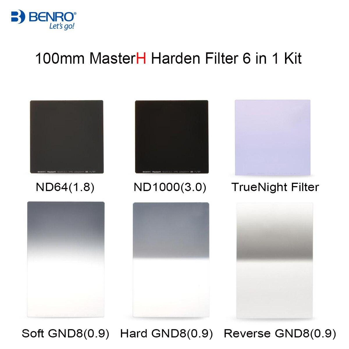 Benro MasterH 100mm series Harden Filter 6 in 1 kit ND1000 ND64 Soft GND8 Hard GND8