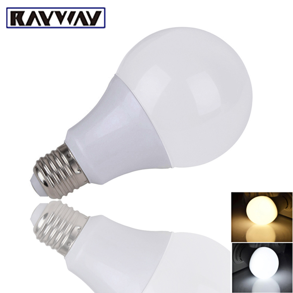 Rayway LED Bulb Lamps E27 220V-240V Indoor Light Bulb Smart IC Real Power 3W 7W 12W 15W High Brightness Lampada LED Bombillas led smart emergency lamp led bulb led e27 bulb lights light bulb energy saving 5w 7w 9w after power failure automatic lighting