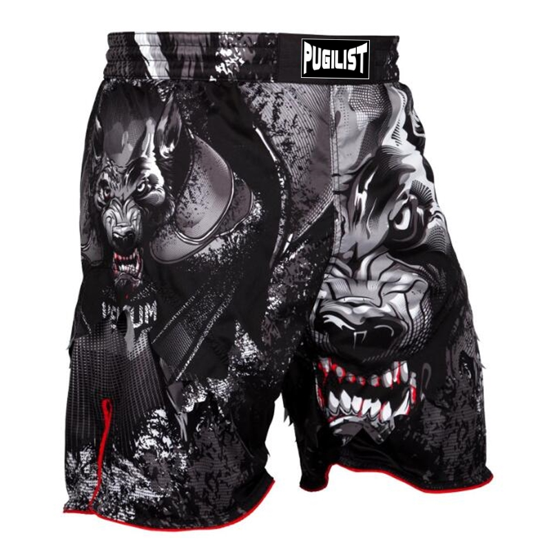 MMA shorts werewolf fighting shorts bodybuilding sanda training muaythai shorts boxing outfits sanda