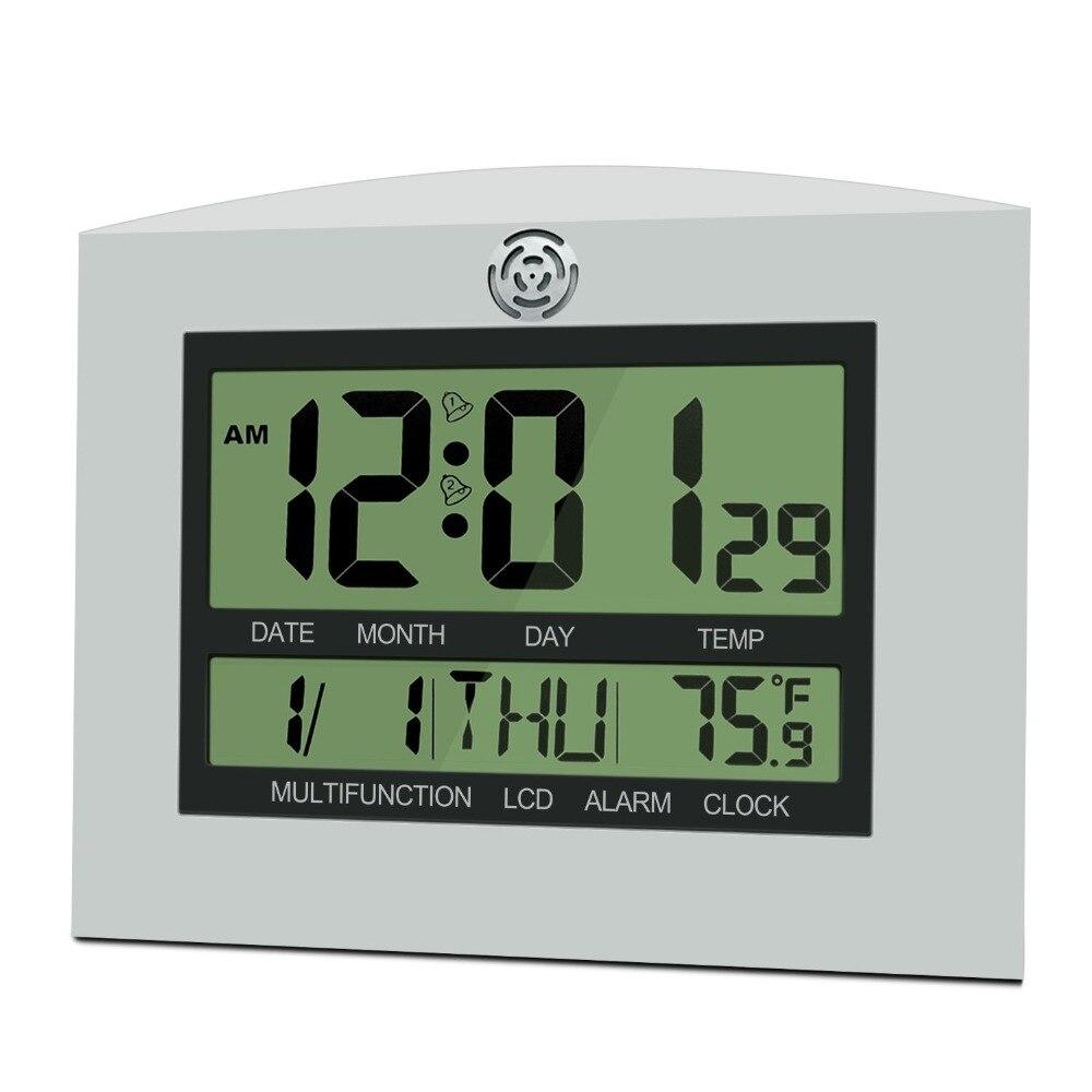 US $17.88 |Große LCD Digitale Wanduhr Tisch küche Uhr horloge Wandbild  wandklok Elektronische Schreibtisch Nixieröhren Wecker Temperatur  Kalender-in ...