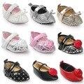 2017 Muchachas de La Manera de La Pu de cuero Dulce Mary Jane Del Bebé Recién Nacido Primeros Caminante de la Princesa Arco Zapatos de Bebé suaves del bebé Zapatos mocasines
