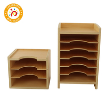 Montessori Materials High Quality Baby Toy Wooden Geometric Card Cabinet Education Preschool Children