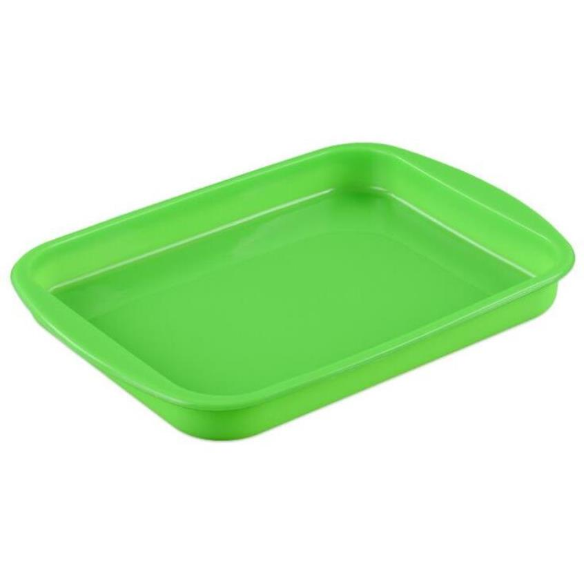 ALLFORHOME Non Stick and flexible Silicone Cake Baking Tray in Rectangular Shape for Confectionery Baking Purpose