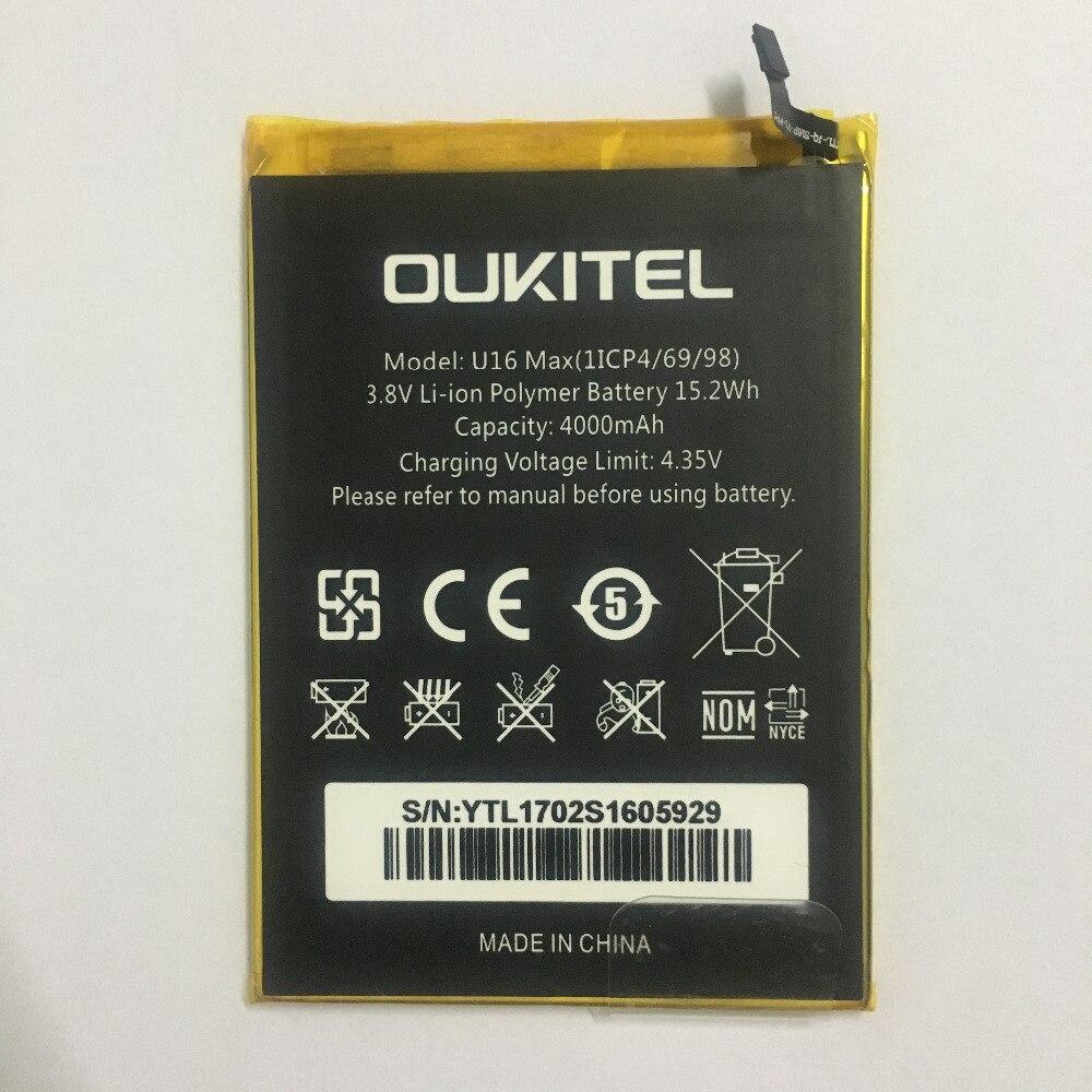 Oukitel U16 Max batterie originale haute capacité 4000 mAh batterie de remplacement pour Oukitel U16 Max téléphone intelligent avec en Stock