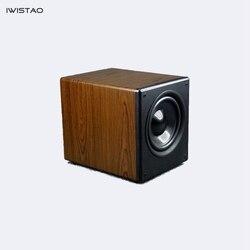 IWISTAO 8 Inch HIFI Passive Subwoofer 100W 4/8 Ohms 35HZ-300HHz 86dB Wood Cabinet