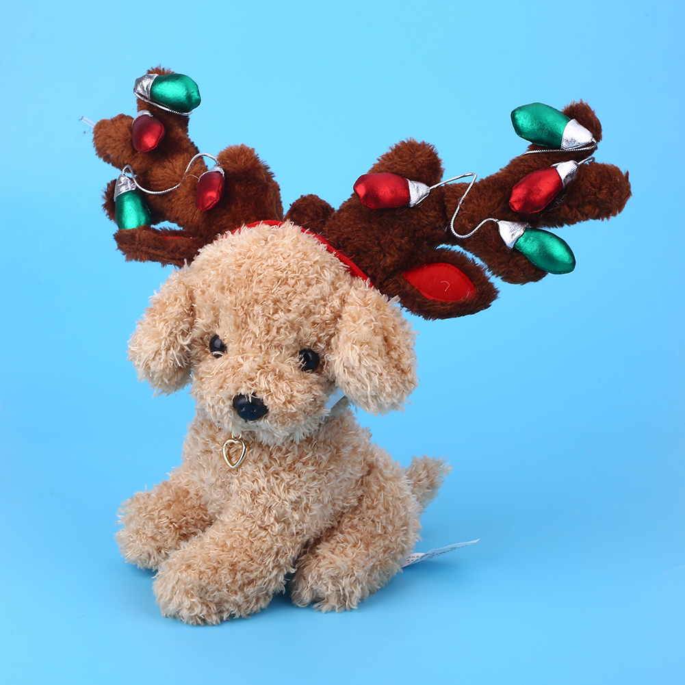 Pet Dog Cat Reindeer Headwear Cute Christmas Party Xmas Dress Up ...