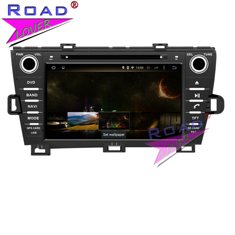 TOPNAVI 4G+32GB Octa Core Android 6.0 Car Media Center DVD Player For Auto Radio Toyota Prius LHD 2009- Stereo GPS Navi Two Din