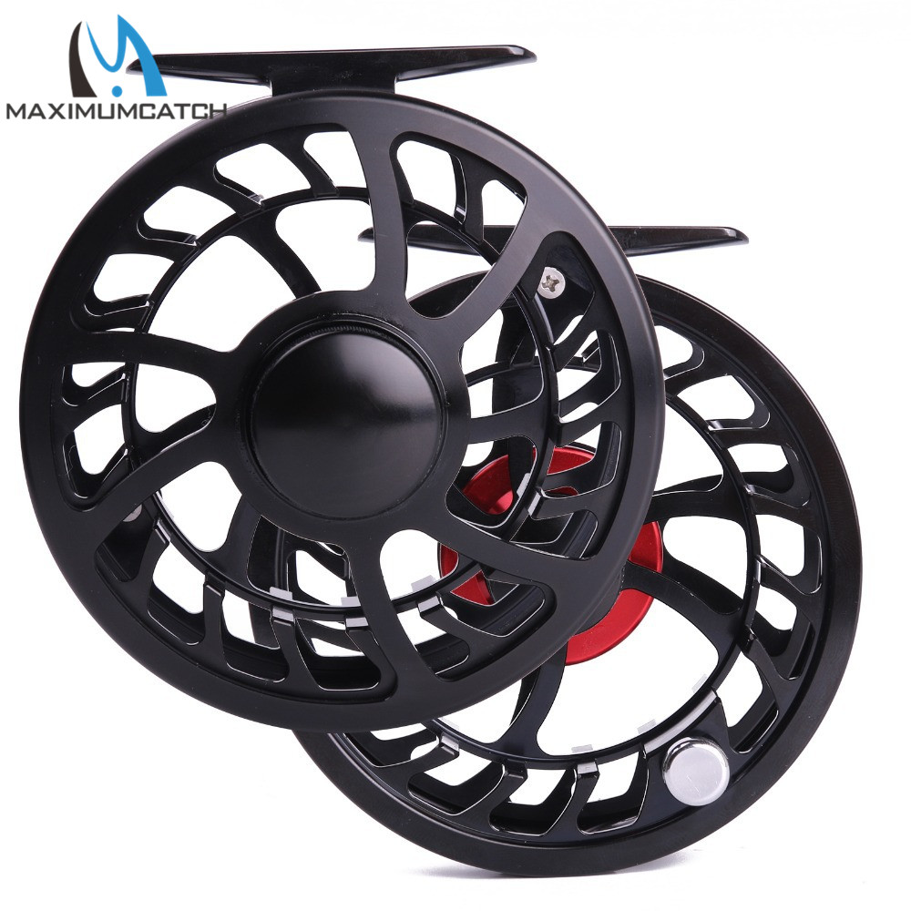 Maximumcatch Fly Reel Exclusive Super Light HVC 7/8WT CNC Machine Cut Aluminum Fly Fishing Reel Used in Fresh and Salt Water