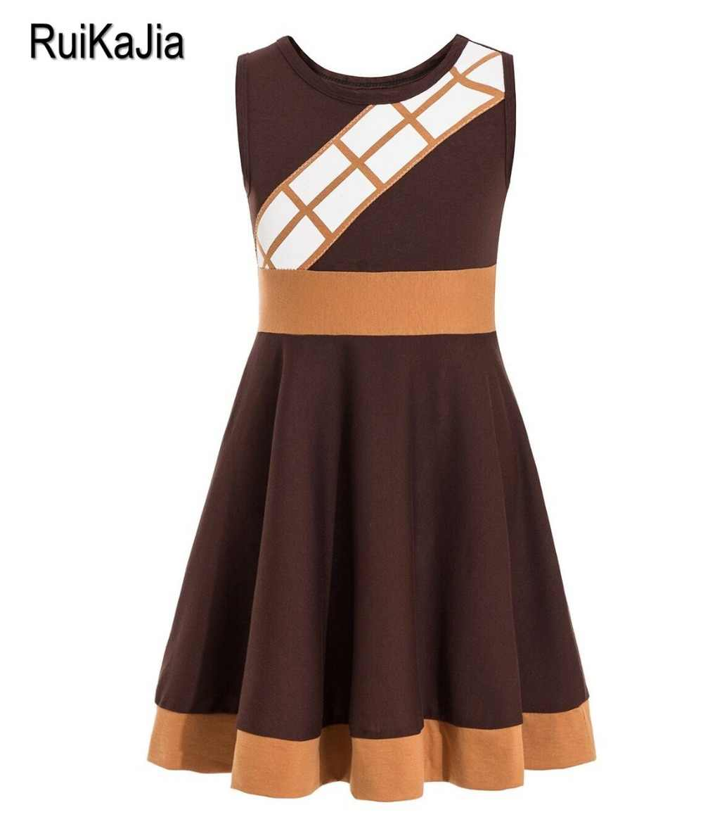Star Chewbacca Costume Wars The Last Jedi Chewbacca Rhinestone Inspired costume  Kids Child Fancy Dress Party Halloween Costume
