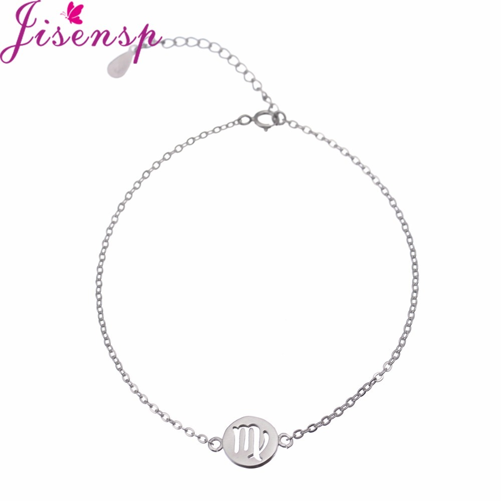 Jisensp New Arrival Virgo Jewelry Women Bracelets With Extend Chain Party  Jewelry Charm Bracelet For Women