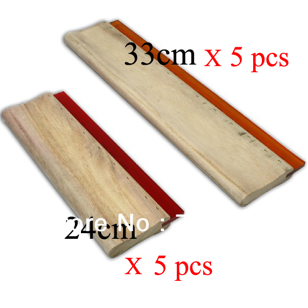 10 pcs Silk Screen Printing Squeegee 24cm (9.4inch)  + 33cm (13inch) Ink Scaper Tools Materials free shipping discount cheap 2 pcs silk screen printing squeegee 24cm 33cm 9 4 13inch ink scaper tools materials
