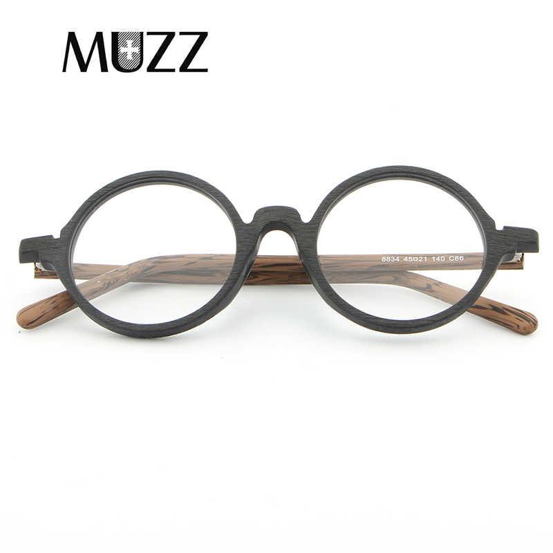 11ca879b144e ... MUZZ Prescription glasses Round Men Eyeglasses Frame Ultra-Light Vintage  Imitation Wooden Glasses Frame Eyeglass ...