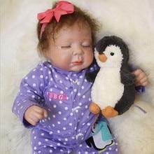 Latest 50cm Hot sale Cheap Dollar Bebe Reborn Lifelike Newborn Baby Bonecas kid Toy Cute Girl Silicone Gifts