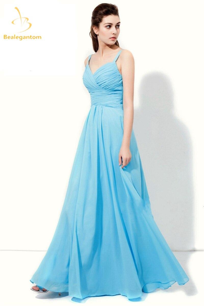 Bealegantom 2019 robes de bal en mousseline de soie à lacets longues robes de soirée formelles longo Vestido Longo en Stock QA1324