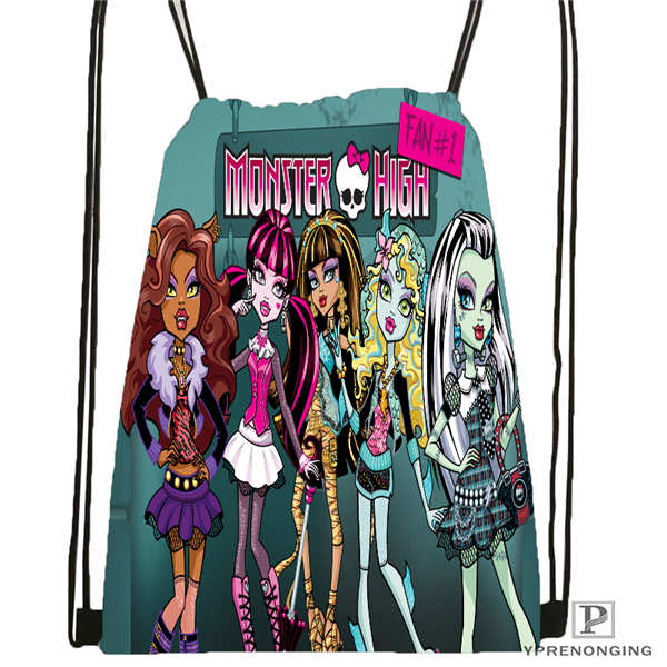 Custom Youloveit_ru_monster_high Drawstring Backpack Bag Cute Daypack Kids Satchel (Black Back) 31x40cm#180611-01-42