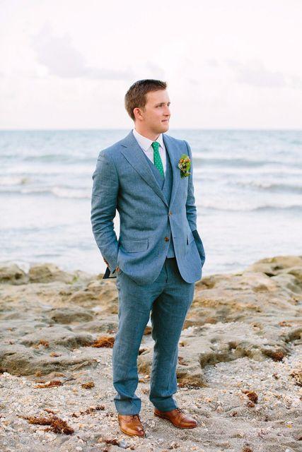 2018 Latest Coat Pant Designs Blue Linen Custom Tuxedo