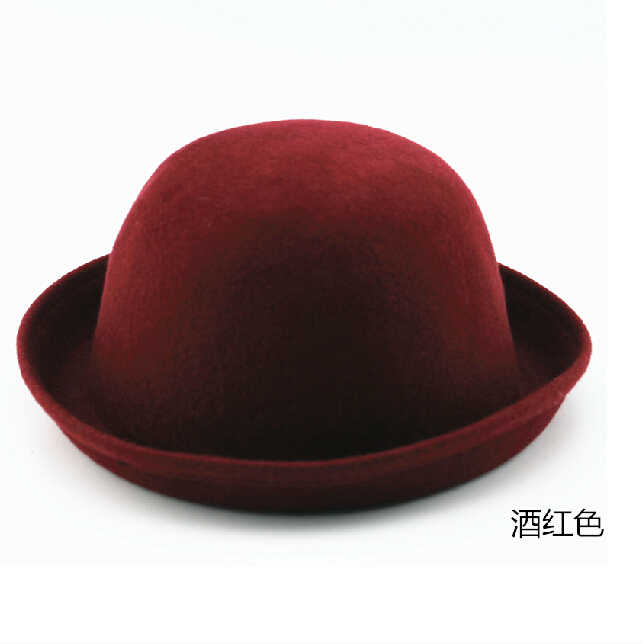 9b446874 ... Vintage Fashion Wool Women's Cute Lady Hat Trendy Bowler Derby Fedora Hat  Men's Cloche