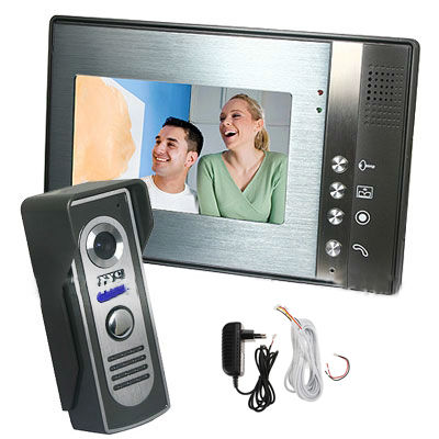 Home 7 Color TFT LCD Monitor Video Door phone Doorbell Intercom System Kit IR Waterproof Camera with 5M Cable wired video door phone intercom doorbell system 7 tft lcd monitor screen with ir coms outdoor camera video door bell