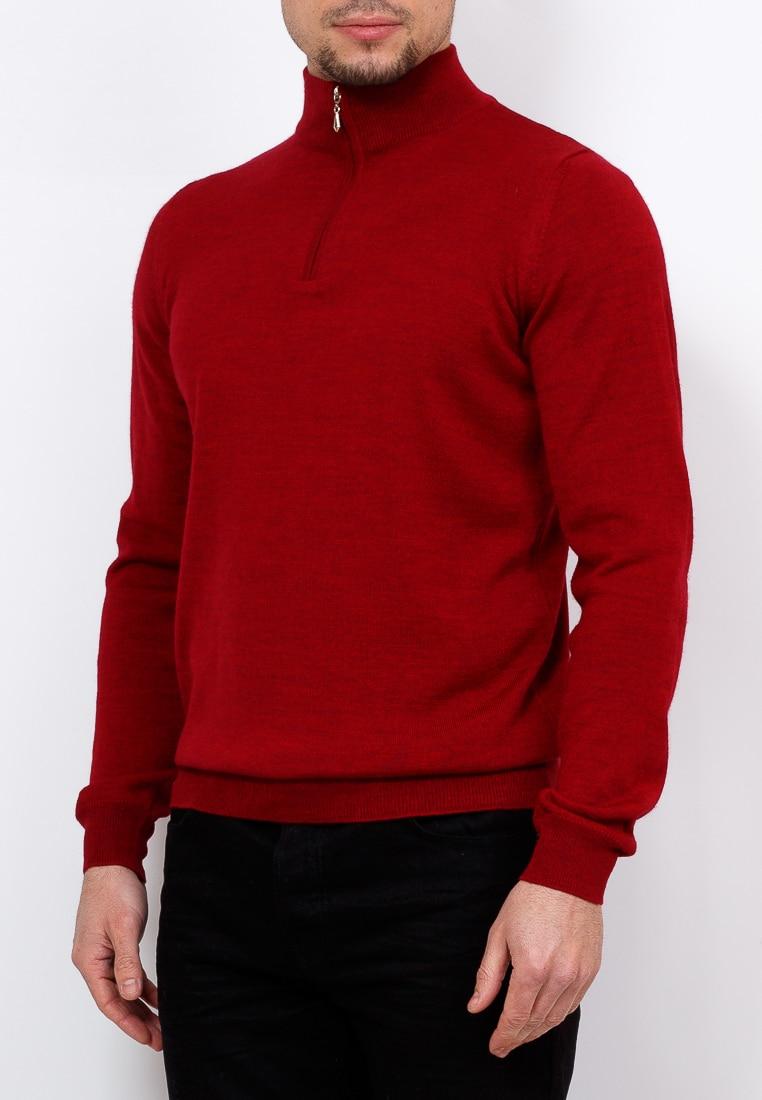 Cardigan male GREG G122Z D M650 (red) Red red bat sleeves irregular hem cardigan