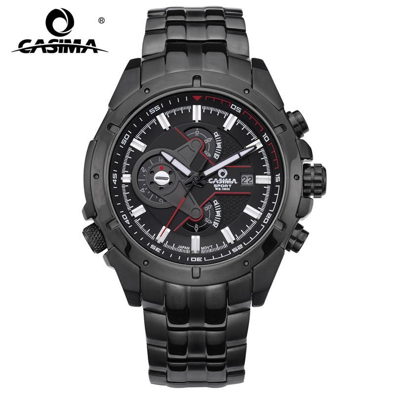 CASIMA marque de luxe montres hommes Sport haut à la mode Multi fonction lumineux décontracté hommes montre-bracelet à Quartz étanche 100 m #8202
