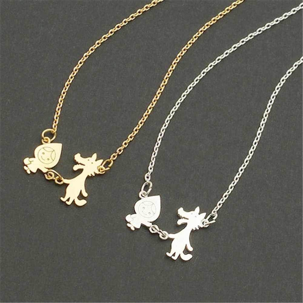 QIAMNI Pineapple Flower Koala Elephant Unicorn Cat Butterfly Wolf Bird Animal Antlers Necklace Pendants Pet Lover Gift Jewelry
