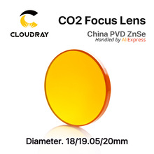 China ZnSe Focus Lens CO2 Laser Engraving Cutter  DIa. 20mm FL 50.8mm 2