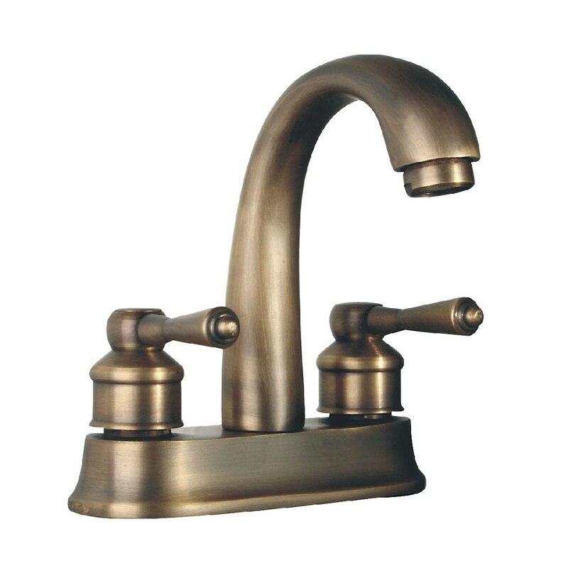 2017 wholesale classic antique brass centerset bathroom - Antique brass bathroom faucet centerset ...