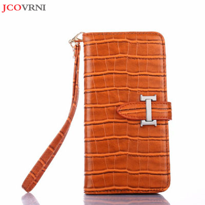 JCOVRNI Stylish luxury crocodile textured leather for iPhone X mobile phone flip cover for iPhone 7 8 plus mobile phone bag