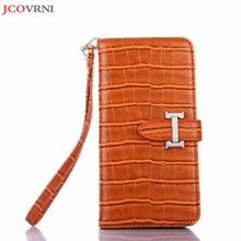 JCOVRNI élégant luxe cuir texturé crocodile pour iPhone X téléphone mobile flip couverture pour iPhone 7 8 plus sac de téléphone portable