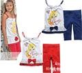 Tweety девочки лето одежда комплект, Девочки одежда костюм, Милый верхний с горошек горох брюки ( : 1 комплект )