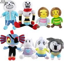 Kawaii undertal Sans / Papyrus / Asriel / Toriel / Temmie / Undyne fylld plysch duk spel anime figur plysch leksaker för barn barn gåva