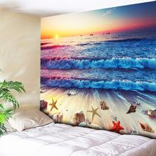 Ombre Great Wave Psychedelic Tapestry Beach Wall Hanging Sea Decorative Wall Carpet Art Tapestries Boho Blanket Large Wall Sheet цена 2017