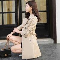 Kmeram 2019, Осеннее весеннее пальто, женский корейский Тренч, женское розовое длинное пальто размера плюс, верхняя одежда 4xl 5xl, Chaqueta Mujer MY2301