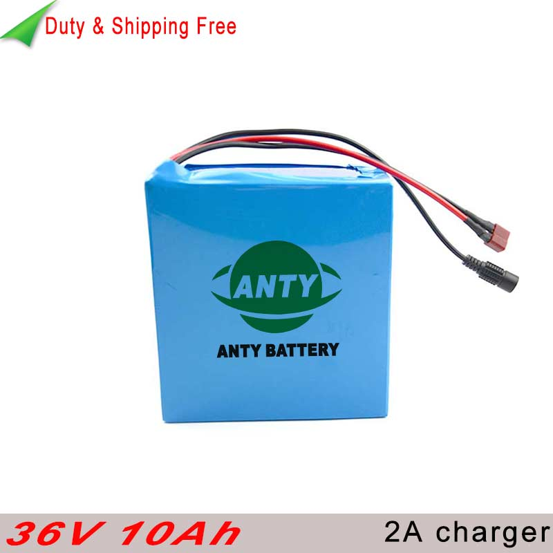 36v 10ah Battery 500w Electric Bike Battery 36v with 2A Charger eBike Battery 30A BMS Lithium Battery 36v Free shipping & Duty