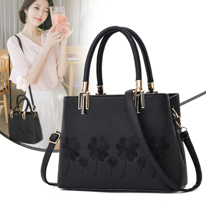 Fashion Women Leather Messenger Bag Flower Handbag Ladies Big Crossbody Bags Women Famous Brands Designers Shoulder Bags