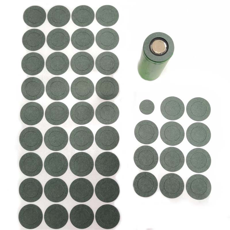 1000pcs 1S 26650 Li Ion Battery Insulation Gasket Barley Paper Battery Pack Cell Insulating Glue Patch Electrode Insulated Pads