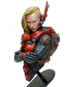 1/12 женщина воин-солдат Бюст Игрушка Смола модель миниатюрный комплект Unassembly Неокрашенный исторический