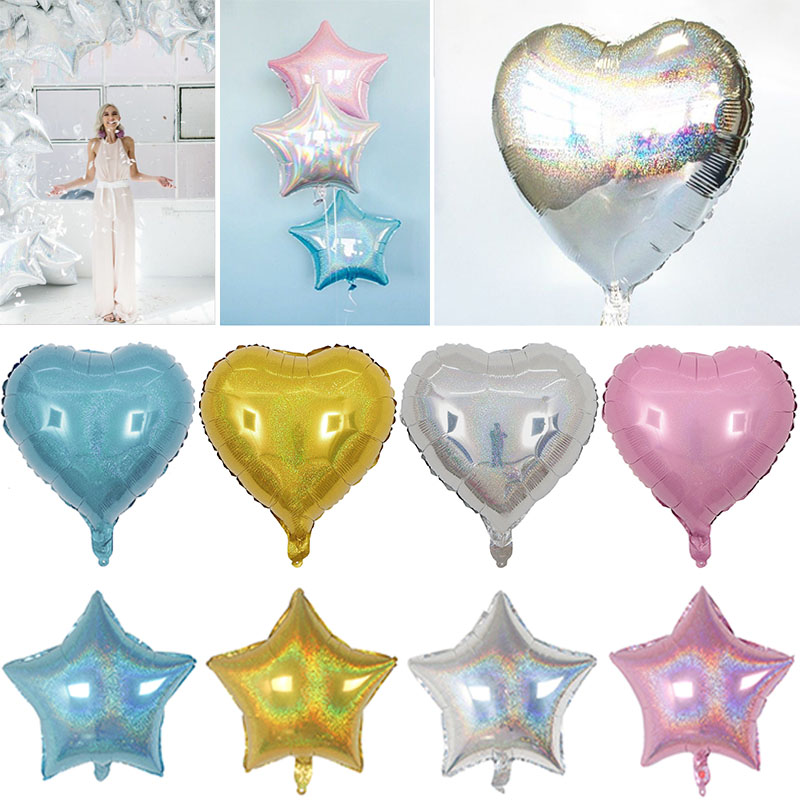 Valentine 39 s Day Decor Glitter Balloon Wedding Birthday Party 10pcs Shiny Laser Star amp heart Balloons Inflatable Helium gift D20 in Ballons amp Accessories from Home amp Garden