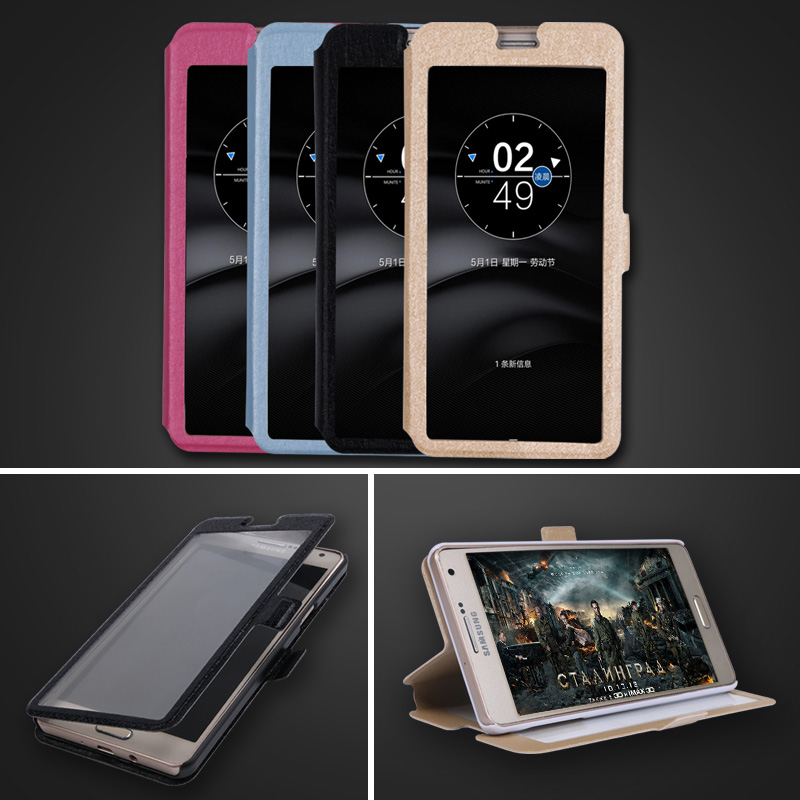 <font><b>Case</b></font> <font><b>For</b></font> <font><b>Lenovo</b></font> <font><b>A1010</b></font> Aplus <font><b>Cases</b></font> View Window Flip Stand Capa Cover <font><b>For</b></font> <font><b>Lenovo</b></font> A536 a859 K6 Note Vibe P1 m S1 lite P780 70 Cover image