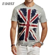 E-BAIHUI nuevo estilo hombres del Algodón del verano Ropa de Hombre Slim Fit camiseta Hombre Camisetas Casual Camisetas Swag mens tops tees Y001(China (Mainland))
