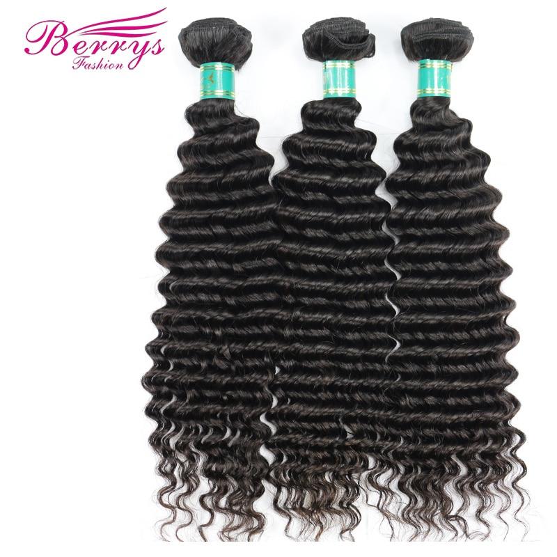 Brazilian Virgin Hair Deep Wave Human Hair 3 Bundles 1 Lot Unprocessed Human Hair Weft Berrys